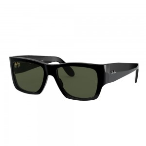 occhiali-da-sole-ray-ban-rb2187-901-31-54-17-140-unisex-black-lenti-g-15-green