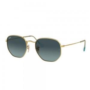 occhiali-da-sole-ray-ban-rb3548n-91233m-51-21-145-unisex-oro-lenti-blu-gradient-gray