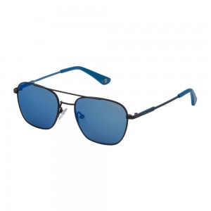 occhiali-da-sole-police-denver-jr-1-junior-blu-scuro-pieno-opaco-lenti-smoke-mirror-blu-sk558-r51b-50-17-135