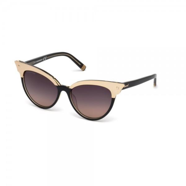 occhiali-da-sole-dsquared2-donna-nero-brown-oro-lenti-fumo-gradient-brown-dq0242-s-05b-55-16-140
