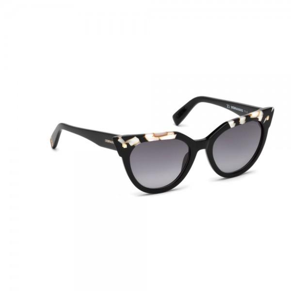 occhiali-da-sole-dsquared2-donna-nero-lucido-lenti-fumo-gradient-dq0277-s-04b-53-19-140