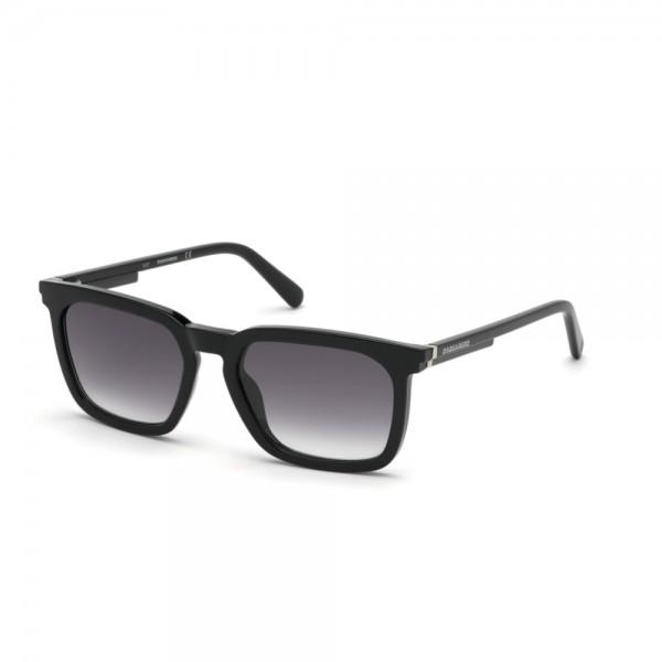 occhiali-da-sole-dsquared2-dq0295-s-01c-54-18-145-unisex-nero-lucido-lenti-fumo-specchiato