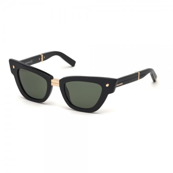 occhiali-da-sole-dsquared2-dq0331-s-01n-50-22-140-unisex-nero-lucido-lenti-verde-frontale-divisibile-anniversario-dsquared2