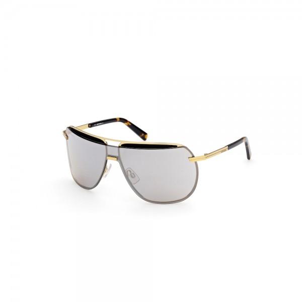 occhiali-da-sole-dsquared2-dq0352-30c-133-00-130-unisex-oro-carico-lucido-lenti-fumo-specchiato