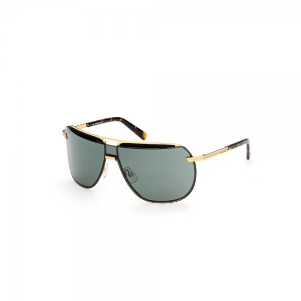 occhiali da sole Dsquared2 DQ0352 30N 133-00-130 unisex oro carico lucido lenti verde