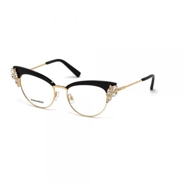 occhiali-da-vista-dsquared2-nero-argento-donna-dq5161-005-52-17-135