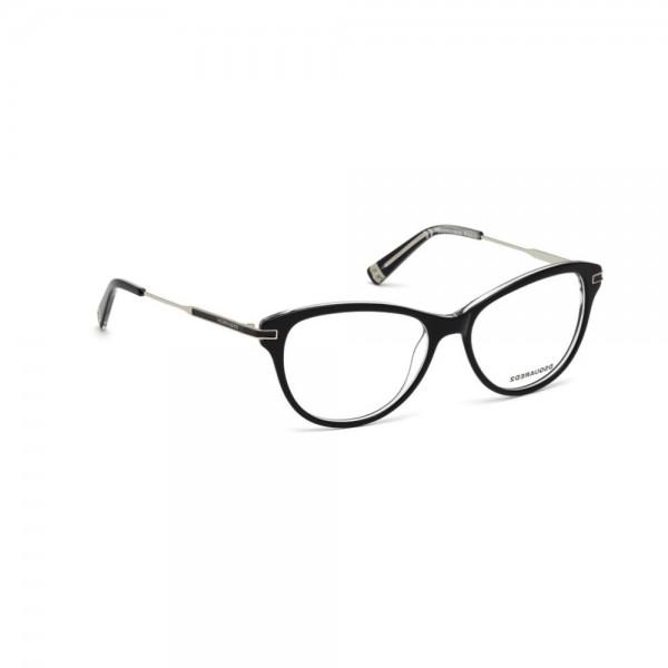 occhiali-da-vista-dsquared2-nero-lucido-donna-dq5163-003-52-15-135