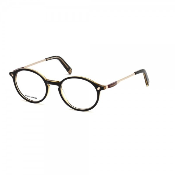 occhiali-da-vista-dsquared2-nero-light-brown-unisex-dq5199-005-49-19-145