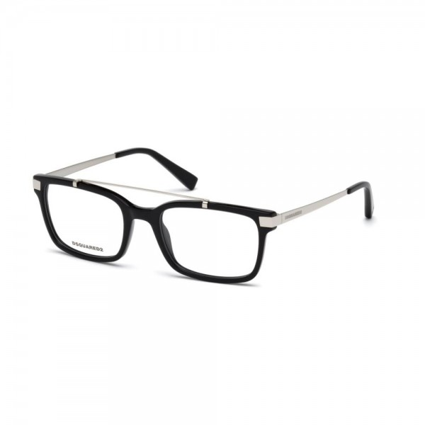 occhiali-da-vista-dsquared2-nero-lucido-unisex-dq5209-001-52-19-140