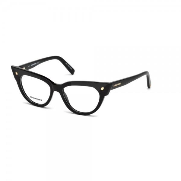 occhiali-da-vista-dsquared2-nero-lucido-donna-dq5235-001-50-16-140