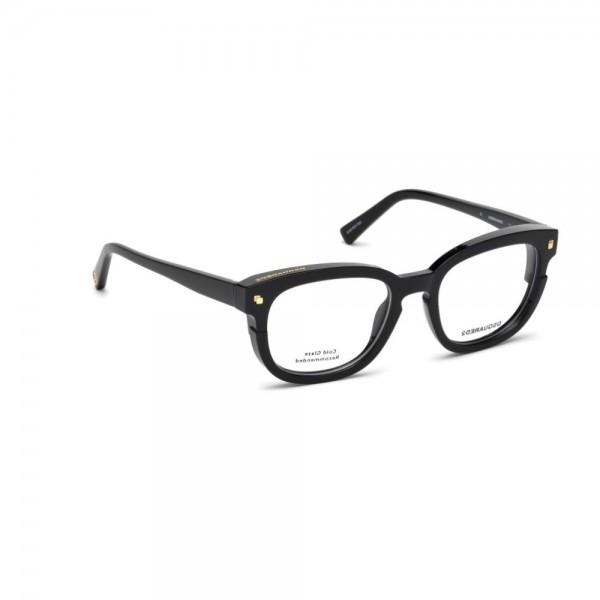 occhiali-da-vista-dsquared2-nero-lucido-unisex-dq5236-001-50-19-140