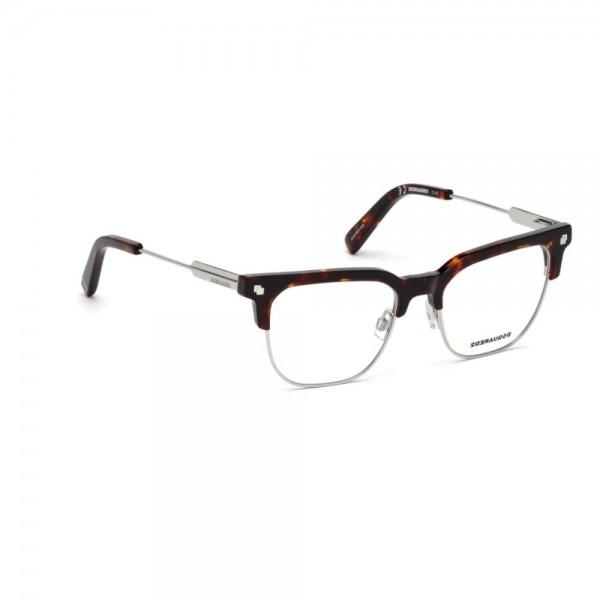 occhiali-da-vista-dsquared2-avana-argento-unisex-dq5243-054-49-17-145