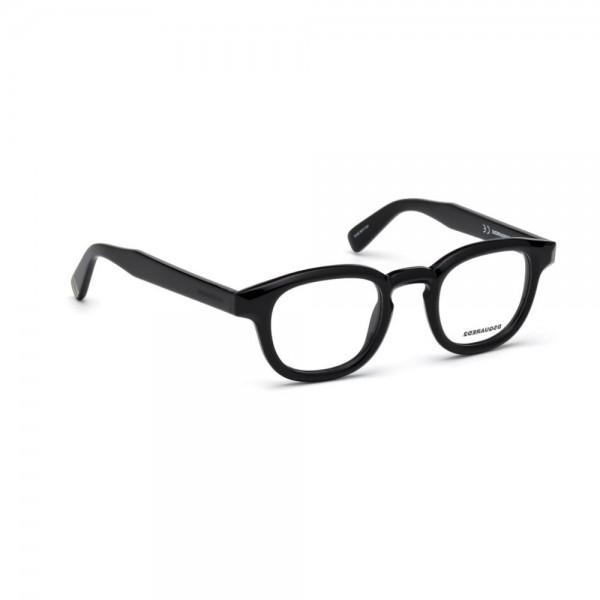 occhiali-da-vista-dsquared2-nero-lucido-unisex-dq5246-001-46-23-145