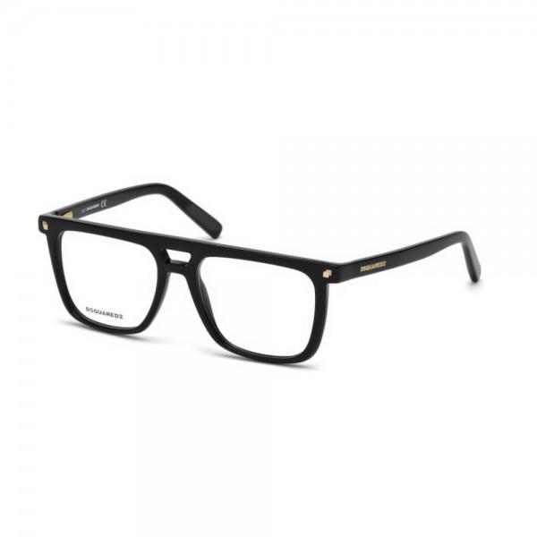 occhiali-da-vista-dsquared2-dq5252-001-53-17-140-nero-lucido-unisex
