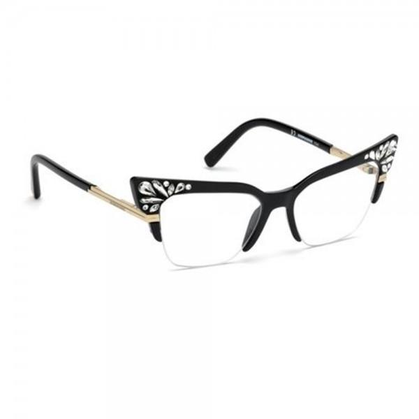 occhiali-da-vista-dsquared2-nero-lucido-donna-dq5255-001-52-17-140