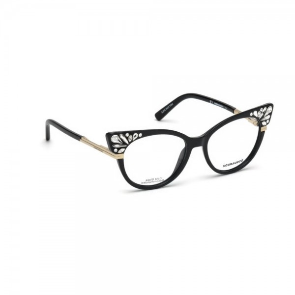 occhiali-da-vista-dsquared2-nero-lucido-donna-dq5256-001-52-16-140