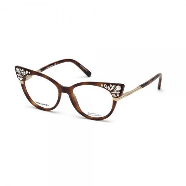 occhiali-da-vista-dsquared2-avana-bionda-donna-dq5256-053-52-16-140