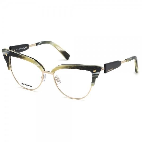 occhiali-da-vista-dsquared2-dq5267-065-53-16-135-beige-striato-verde-donna