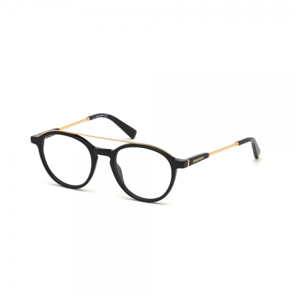 occhiali-da-vista-dsquared2-dq5277-001-50-20-145-unisex-nero-oro