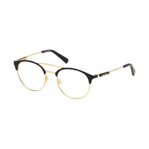 occhiali-da-vista-dsquared2-dq5284-030-51-20-145-nero-oro-unisex