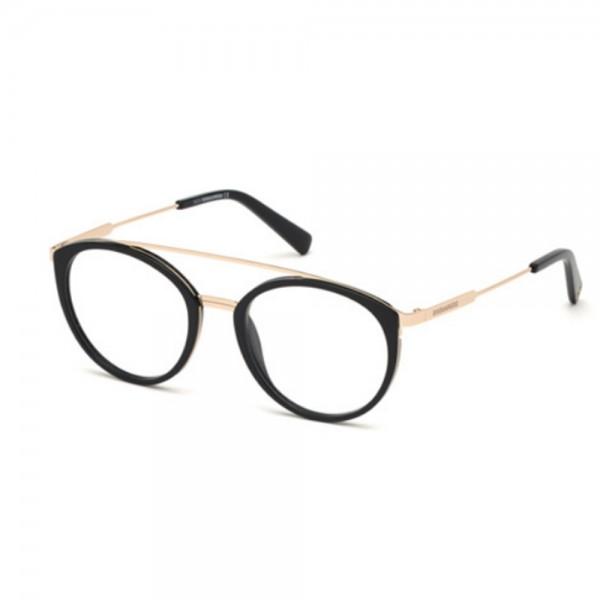 occhiali-da-vista-dsquared2-dq5293-001-51-19-150-unisex-nero-lucido