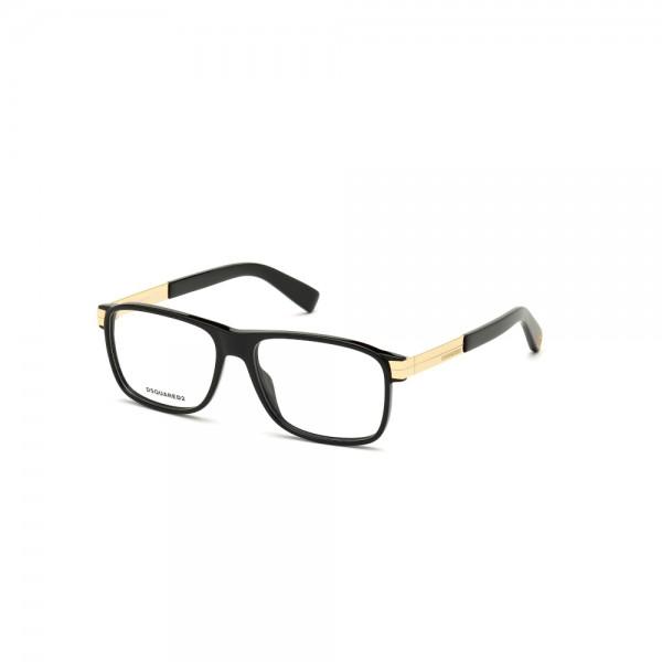 occhiali-da-vista-dsquared2-dq5306-001-55-15-145-unisex-nero-lucido