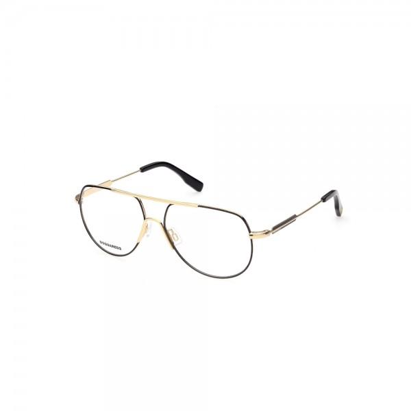 occhiali-da-vista-dsquared2-dq5315-030-57-14-145-unisex-oro-nero
