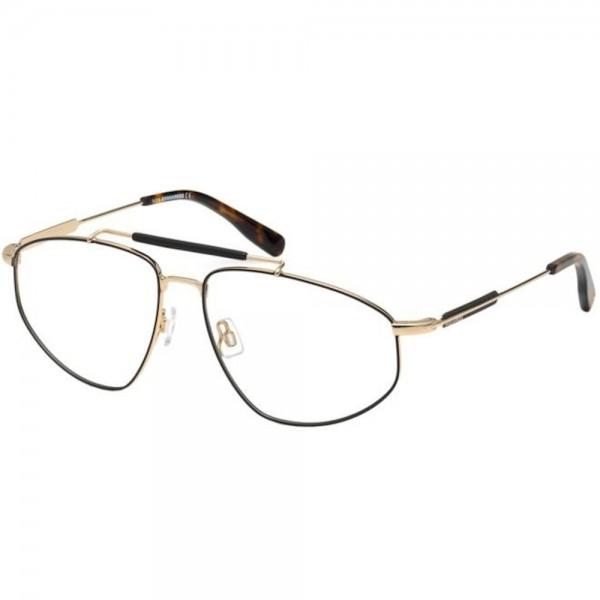 occhiali-da-vista-dsquared2-dq5330-005-60-15-145-unisex-oro-nero
