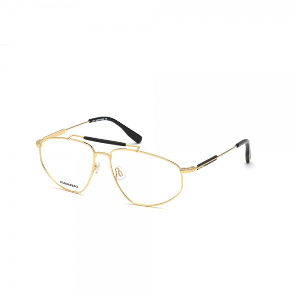 occhiali-da-vista-dsquared2-dq5330-030-60-15-145-unisex-oro-lucido