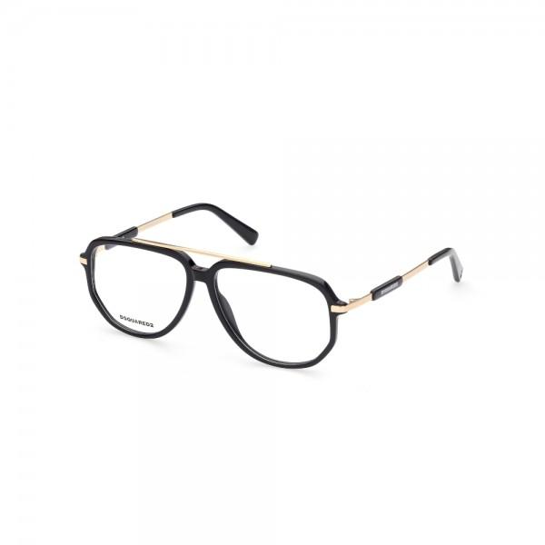 occhiali-da-vista-dsquared2-dq5339-001-56-13-145-unisex-nero-lucido