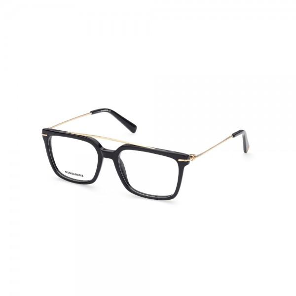 occhiali-da-vista-dsquared2-dq5341-001-54-18-145-unisex-nero-lucido