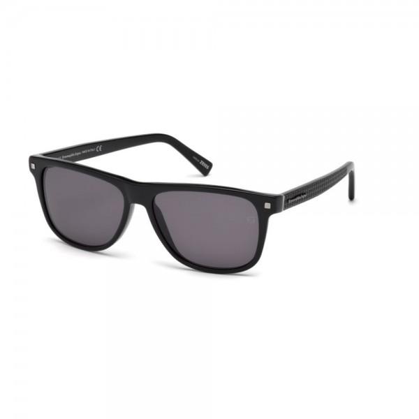 occhiali-da-sole-ermenegildo-zegna-uomo-nero-lucido-lenti-fumo-ez0074-s-01a-57-15-145