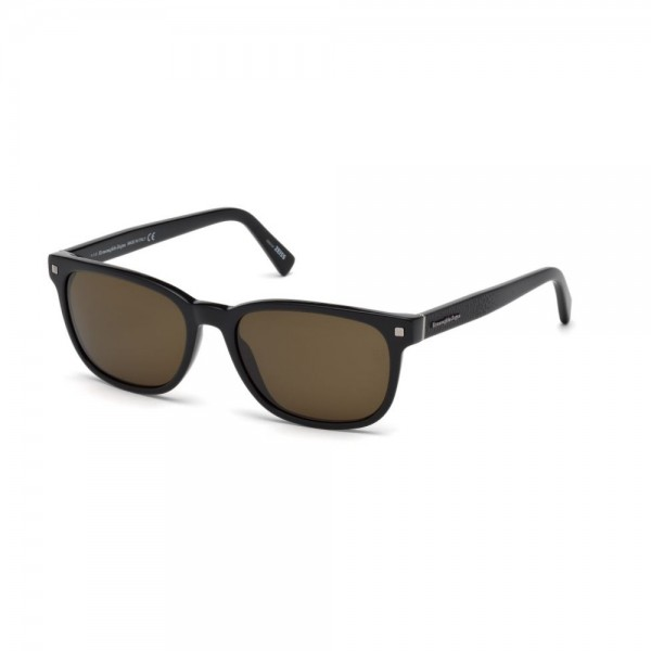 occhiali-da-sole-ermenegildo-zegna-uomo-nero-lucido-lenti-brown-ez0075-s-01j-56-18-145