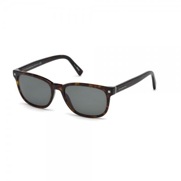occhiali-da-sole-ermenegildo-zegna-uomo-avana-scuro-lenti-grigio-verde-ez0075-s-52n-56-18-145