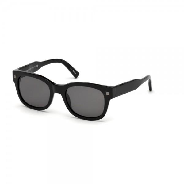 occhiali-da-sole-ermenegildo-zegna-uomo-nero-lucido-lenti-fumo-ez0087-s-01a-52-20-140