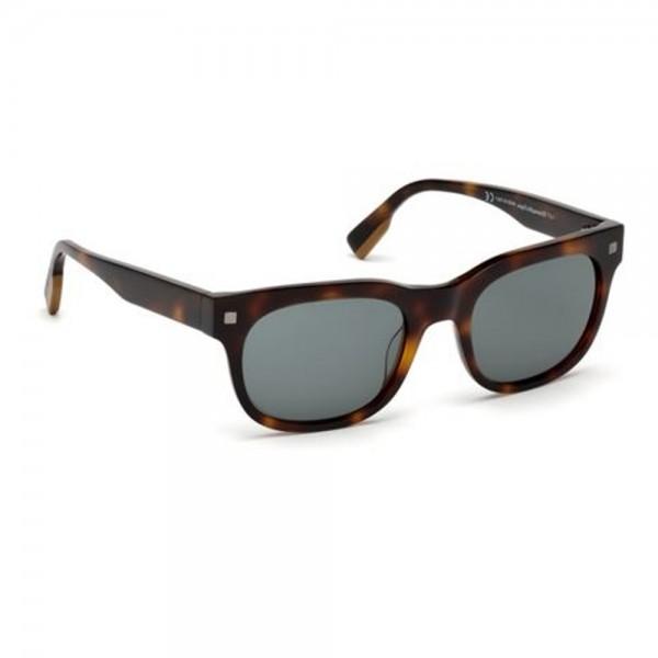 occhiali-da-sole-ermenegildo-zegna-uomo-avana-scuro-lenti-fumo-ez0101-s-52a-53-20-140