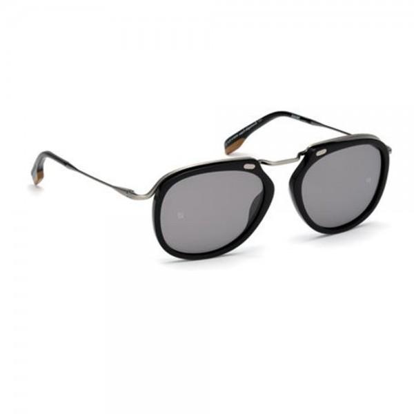 occhiali-da-sole-ermenegildo-zegna-uomo-nero-lucido-lenti-fumo-specchiato-ez0107-s-01c-54-18-140