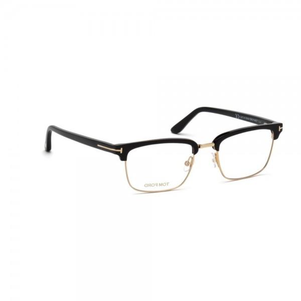 occhiali-da-vista-tom-ford-uomo-nero-lucido-oro-ft5504-001-52-19-145