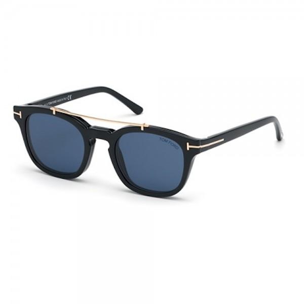 occhiali-da-vista-tom-ford-ft5532-b-01v-49-21-140-uomo-nero-lucido-lenti-blu-protect-con-clip-on-da-sole