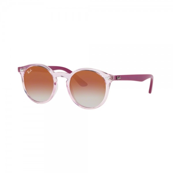 occhiali-da-sole-ray-ban-junior-unisex-trasparent-pink-lenti-red-mirror-red-orj9064s-7052v0-44-19-130