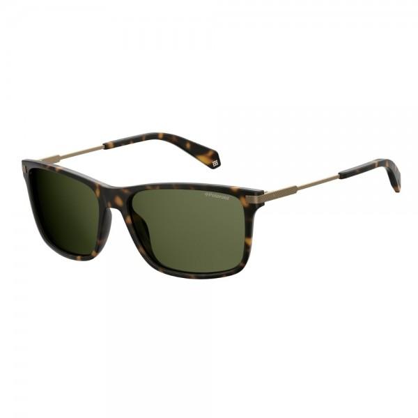 occhiali-da-sole-polaroid-unisex-avana-opaco-lenti-grigio-verde-polarizzato-pld2063-n9p-uc-58-16-135