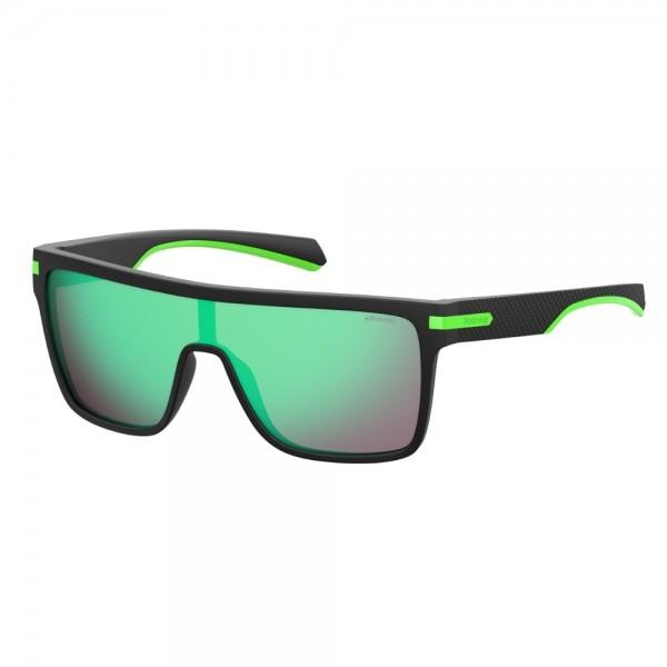 occhiali-da-sole-polaroid-unisex-nero-opaco-lenti-verde-specchiato-polarizzato-pld2064-003-5z-99-01-135