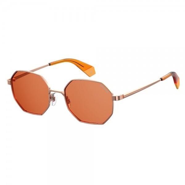 occhiali-da-sole-polaroid-pld6067-ofy-53-19-145-unisex-oro-arancio-lenti-brown-polarizzato