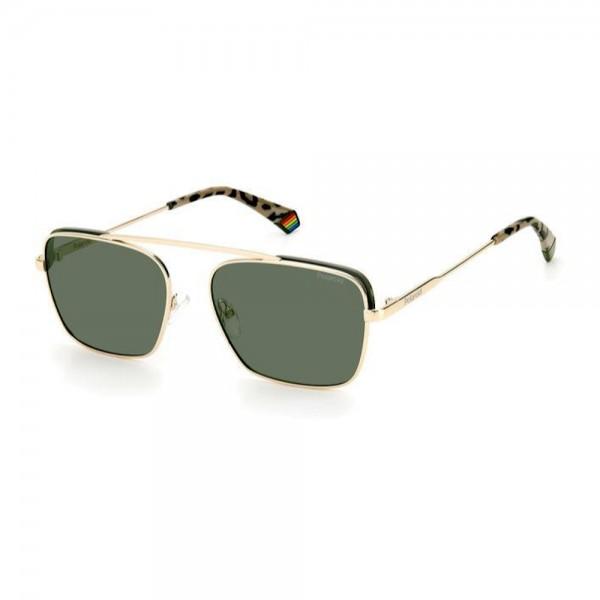 occhiali-da-sole-polaroid-pld6131-s-j5g-55-21-150-unisex-oro-lenti-green-polarizzato