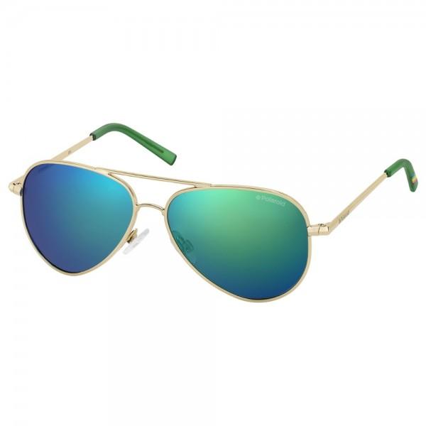 occhiali-da-sole-polaroid-bambino-oro-lenti-green-specchiato-polarizzato-pld8015-n-j5g-k7-52-12-135