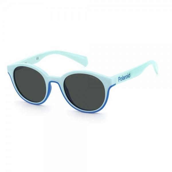 occhiali-da-sole-polaroid-pld8040-s-2x6-44-19-125-junior-azzurro-turchese-lenti-grey-polarizzato