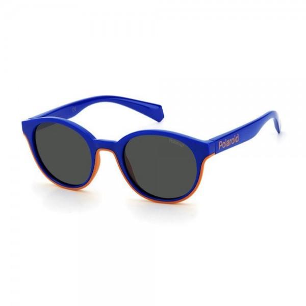 occhiali-da-sole-polaroid-pld8040-s-rtc-44-19-125-junior-blu-arancio-lenti-grey-polarizzato