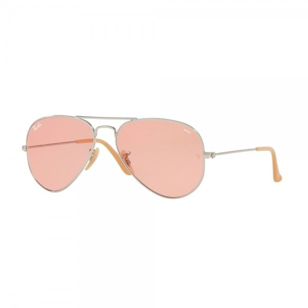 occhiali-da-sole-ray-ban-unisex-argento-lenti-pink-photocromic-rb3025-9065v7-58-14-135