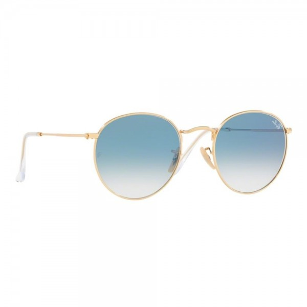 occhiali-da-sole-ray-ban-unisex-gold-lenti-crystal-white-grad-blue-rb3447n-001-3f-53-21-145