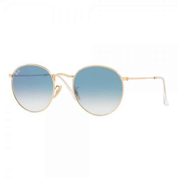 occhiali-da-sole-ray-ban-unisex-gold-lenti-crystal-white-grad-blue-rb3447n-001-3f-50-21-145
